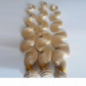 Malaysian Brazilian virgin Human Hair extensions #613 Body wave 8-26inch Fashion lady popular 3 4 5pcs Indian European remy Hair DHgate