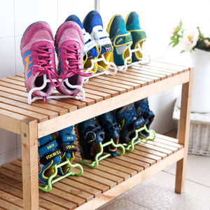 10PCS Set Multi-Function Shoe Shelf Organizer Creative Shoes Drying Rack Stand Hanger Children Kids Shoes Hanging Storage Floor LJ201125