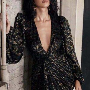 2021 новая женщина одетая глубокая V сексуальная цветочная вышитая фонарик весна винтажная асимметричная трасса женское платье