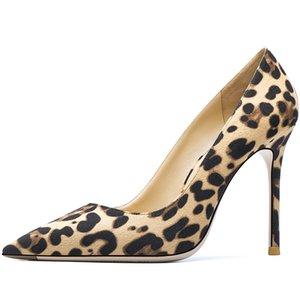 Fashion Free Female Fashions Leoprad Point Toe Stiletto Shoes para mujeres en tacones altos 6kkh