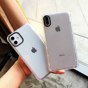 Transparent Clear Airbag Phone Case Soft TPU Camera Portector for iPhone 12 pro max 11 X Xs XR Xs Max 7 7p 8 8plus 6s 6plus