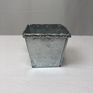 Vintage Rustic Nostalgia Mini Pot Succulent Planteur de pépinières argentées Mini seaux galvanisés pour petites plantes