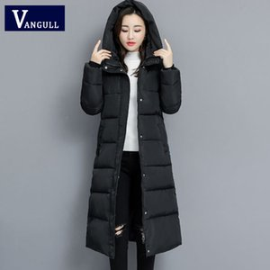 Vangull Winter Women Parkas Coats Casual Long Sleeve Hooded Jackets Autumn New Warm Solid Zipper Plus Size Long Outerwear 201120