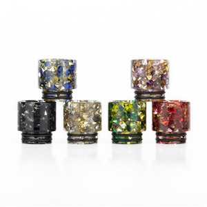 Serial I 810 510 Thread Epoxy Resin Snake Skin Colorful Cobra Vape Drip Tips for smok TFV8 TFV12 Prince TFV8 Big Baby Tanks