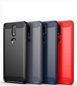 1,5 мм Текстура углеродного волокна Тонкий доспехи, щеткой корпус TPU для Nokia 1.3 2.3 5.3 8.3 2,4 3.4 100 шт. / Лот