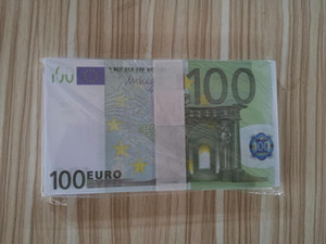 Wholesale propmoney Euro 10 20 50 100 200 500 Nightclub Bar party realistic copy banknote Educational toys Movie Play Money 100pcs pack 039