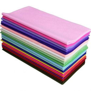 40Pcs Wrapping Colored Tissue Paper For DIY Wedding Flower Decor 50*50CM Gift packing 100