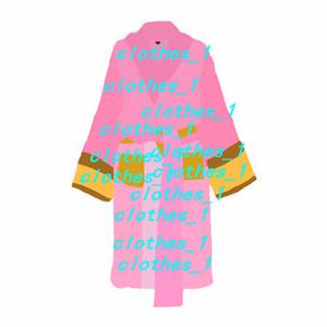 Brand designer sleep robe unisex cotton night robe good quality bathrobe fashion luxury robe breathable elegant women clothing hot sell 1739