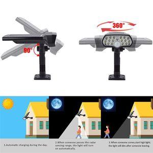 Регулируемая светодиодная солнечная энергия света PIR датчик движения пятна садовая настенная лампа наружный освещение водонепроницаемый датчик