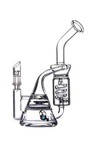 12,5 дюймов спиральные стеклянные бонги рециркуляторы DAB оснастки стеклянные водопроводные трубы курительные трубы с миской.