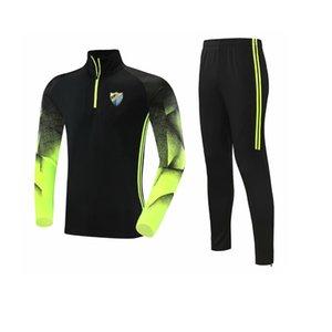 Málaga 2021 Men's Tracksuit Poliestere Giacca per il tempo libero Giacca da calcio Jerseytop Training Gym Suit Sport sportivo all'aperto Sportswear Jogging Wear