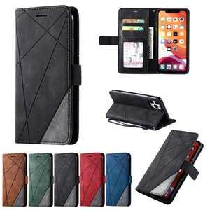 for iPhone 12Mini 12 Pro Mixed Splice PU Leather Case For iPhone 11 Pro Max XR XS 7 8Plus SE2020 Stand Cover