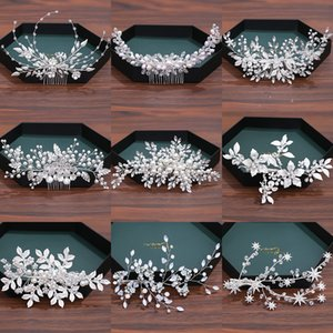 Luxurious Pearl Rhinestone Hair Accessories For Women Wedding Accessories Hair Clip Jewelry Headpiece Comb Headband Tiara J0121