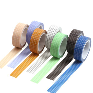 2016 Simple Black White Grid Washi Tape Japanese Paper DIY Planner 10M Masking Tape Adhesive Tapes Decorative Stationery Tape