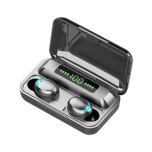 F9-5C TWS Bluetooth 5.0 Wireless Headphones Earphones 9D Stereo Sport Waterproof Wireless Earphone Touch Control Headset earbuds