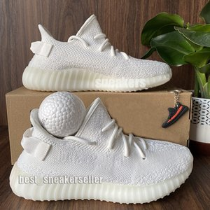 Top Quality Mens Running Shoes Women Runner Sports Sneakers Kanye West Cream White Static Abez Eliada Black Red Cinder V2 Double Box