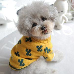 Cotton Knitted Dog Clothes Winter Warm Pet Dog Jacket Coat Puppy Little Animal Pet Cat Pomeranian Schnauzer Apparel Sweater Suit