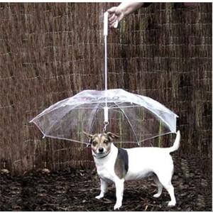 Suprimentos legais úteis transparente PE Pequeno Guarda-chuva com cachorro Leads mantém o animal de estimação seco confortável na chuva
