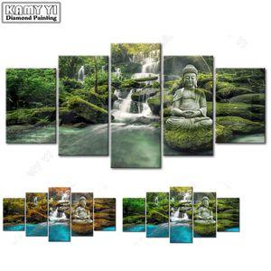 5D DIY DAIMOND Pittura Cross-Stitch Buddha multi-picture 100% full Diamond Paintings Rhinestones Paesaggio Immagini Ricamo C1123
