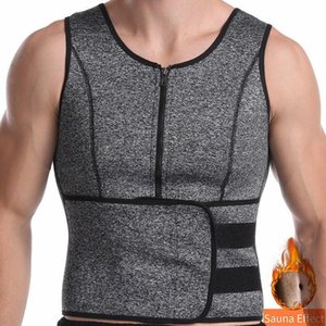 2 in 1 Compression Tank Tops Training Vest with Waist Belt Tummy Shaper Slimming Shapewear Fat Burn Fitness Corset Sweat Shirt