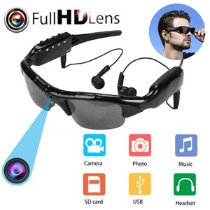 Véhemo mini caméra HD Lunettes de soleil HD DVR Equitation de plein air Cyclisme Cam Enregistreur Musique Glasses