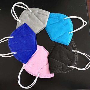 KN95 Mask 5 Layer Factory 95% Filter FFP2 Colorful mask Activated Carbon Breathing Respirator Hot Sale