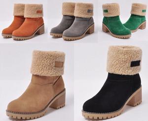 Winter Женские ботинки Тельфскин Мартин Сапоги Съемные нейлоновые сумки боевые ботинки леди дамы наружные толстые нижние туфли средняя длина ботинок