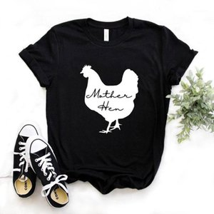Mother Hen Pollo Imprimir Mujeres Tshirts Algodón Casual Funny T Shirt para Lady Yong Girl Top TEE 6 COLOR NA-10171
