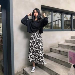Long Skirts For Women Slim women skirt Fashion Dasiy Print Women Skirt Vintage High Waist Midi Skirts Sexy Casual drop shipping