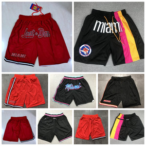 2021 Mens Just Don Pocket Shorts Authentic Stitched MiamiH Dwyane 3 Wade Jimmy 22 Butler Just Don Retro Mesh Classic Basketball Shorts