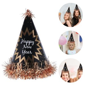 4pcs Lovely Delicate Cute Fashion Creative Party Caps Tassel Pompon Hats New Year Hats Birthday Caps for Party Birthday New Year