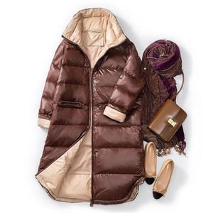 Sedutmo inverno longo pato para baixo jaquetas mulheres oversize espesso casaco quente outono casual baiacada jaqueta z1202