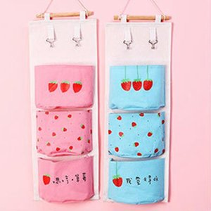 Cartoon Flamingo Wall Hanging Storage Bags Linen Closet Children Room Organizer Pouch For Toys Books Cosmetic Sundries Organizer
