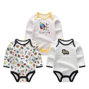2019 3PCS Lot Girls Baby Sets Unisex Newborn Unicorn Baby Boy Clothes Cotton Baby Girl Clothes Jumpsuit Newborn Q0104