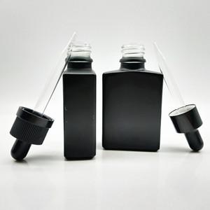 30ML глазурь эфирное масло бутылки сплошной черной пипетки капельница квадратные духи жидкие стекло упаковочные бутылки прямоугольные горячие продажи 1 1YB M2