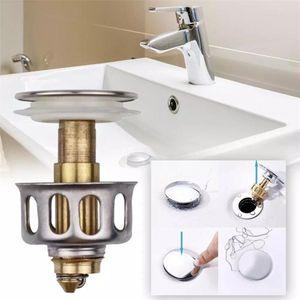 GRATIS DHL NUOVO UNIVERSAL WAULS Wash Basin Bounce Drein Filtro 2 in 1 Doccia Doccia Sink Drain Drain Vanity Stopper Vasca da bagno Accessori da bagno DHD3559