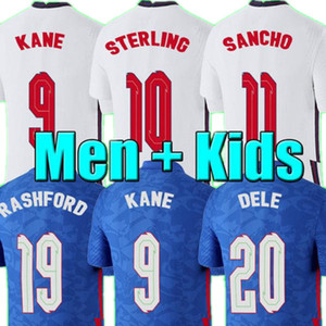 Nouveau 2020 England Dele Alli Soccer Jerseys Kane Rashford Sterling Sturridge Jersey 2021 Adulte Hommes + Kit Kit Chemise de football Vardy Lingard