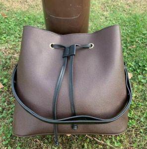 Famous bucket handbags NEONOE shoulder bags leather bucket bag women flower printing crossbody bag purse #11214