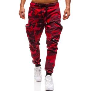 Men Joggers 2018 Autumn New Camouflage Camo Harem Pants Men Multi-Pockets Pants Sweatpants Male Trousers Army Green M-3XL 201130