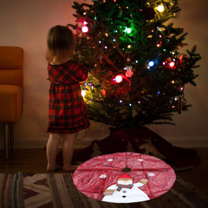Christmas Tree Cloth Classic Snowman Pattern Tree Apron Skirt Christmas Base Mat Dress Props for Party Shop (90cm)