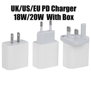 USB Wall Charger 20W 18W Power Delivery PD Quick Charger Adapter TYPE C Charger US UK EU Plug Fast Charging Cable for Samsung Iphone