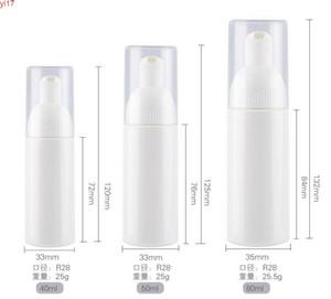 100 unids 40 ml / 50 ml / 80 ml Classic Press Pump Foamer Bottle Portable Travel Foam Dispensador de líquido con la parte superior blanca SN027High Cantidad