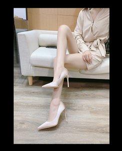 Sandali a buon mercato dei sandali delle donne Tacchi alti del partito del partito Nero Nero Nudo Blu Pelle Pelle Punti Vestiti Diametti Scarpe Delle Scarpe Dimensione 35-40