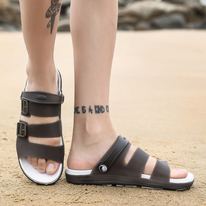 2019 новых людей сандалии лета Jelly обуви тапочки Мужчины Открытый пляж Повседневная обувь Дешевые Мужчины Сандалии Водные обувь Sandalia Masculina