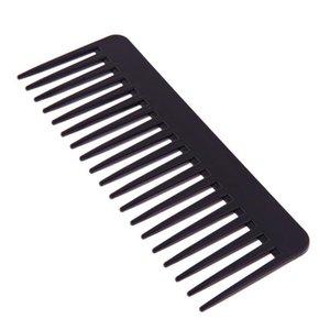 Peine Peine Negro Plástico Plastic Peine Ondulado Pelo Estilo Detangling Wide Peine Salon Hairstyling Barbers Massa BBYVIU