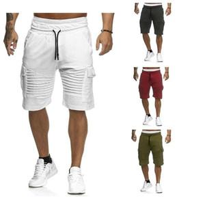 2020 Hip Hop Mens Cargo Shorts Summer Casual Pocket Shorts Joggers Fashion Men Trousers Sweatpants Short Pants Homme Clothes