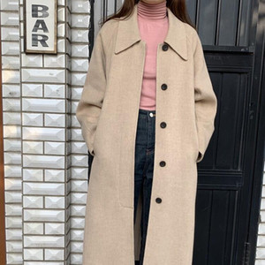 New Winter Coat Women Oversize Fashion Cashmere Wool Outerwear Female Long Thickening Warm Woolen Overcoat Womens Trench Coats