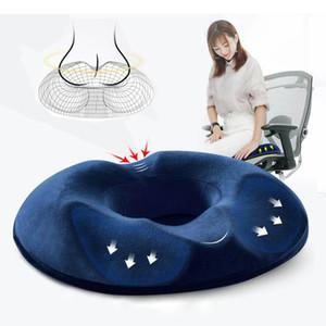 Cojín de asiento de la espuma de la espuma de la molienda de confort Silla de oficina transpirable Cojín de alineación espinal Silla de alineación para el alivio de un dolor de espalda DBC DH0762