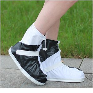 Women's Rain Shoes Thick Wear-resistant Non-slip Rain-proof Elastic Design Fashion Overshoes Boot Cover For Outdoor Wa sqclxa