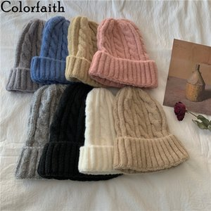 Colorfaith 2020 New Autumn Winter Women's Hats Beanie Knitted Hat Warm Pretty Fashionable Vintage Elegant Wild Lady Cap H030 F1208